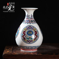 Siu Hong Jingdezhen cerâmica artes e artesanato enfeites de sala Xianhe luminosa pastel romã