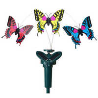 New Solar Powered Fluttering Fly Dance Butterfly Garden Yard Outdoor Ornament
