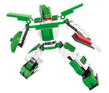 Gift for boy 1pc plastic assembly puzzle small model creative robot educational toy