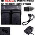 Batería NP-F970 NP F970 Cargador DOBLE + ee.uu./ue cable Para sony f570 f550 f530 f750 f770 np fm500h np-fm500h cámara accesorios
