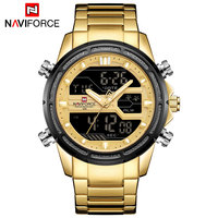 NAVIFORCE Top Luxury Brand Quartz Watch Men Stainless Steel Clock LED Digital Army Military Sport Wristwatches Relogio Masculino