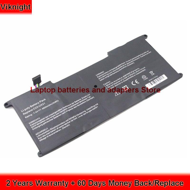 7.4V Battery For Asus ux21e battery ASUS Zenbook UX21E UX21 C23-UX21 UX21A  Ultrabook 4800mAh 35Wh - ismiler.com