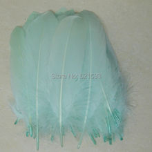 Aqua Goose Feathers,200pcs/lot- MINT GREEN Satinettes Loose feathers,goose craft feathers,10-18cm long,freeshipping
