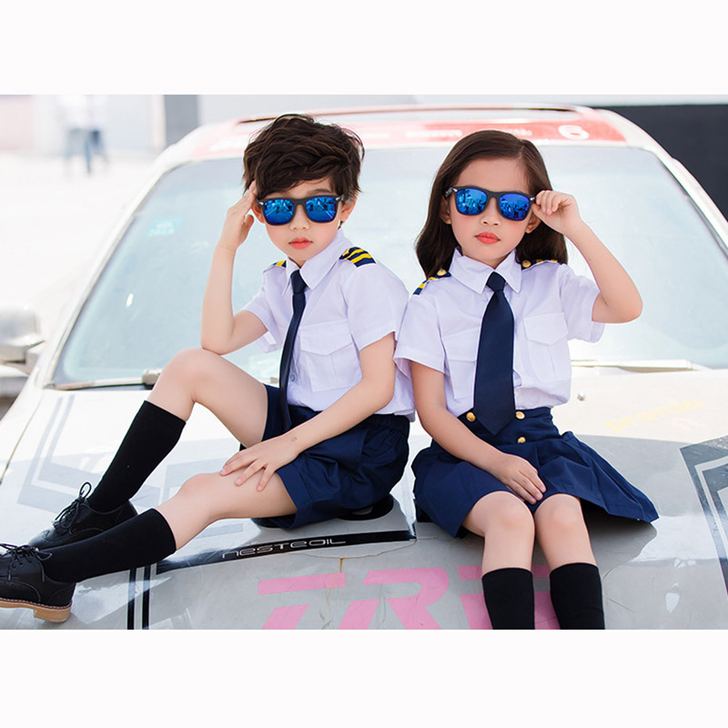 Summer Academic School uniforms Costumes Shirt Pants Skirt Suit Girls Boys Kindergarten Junior Middle School Students Uniform