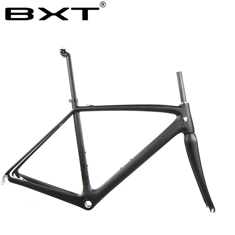 BXT bici della strada del carbonio telaio bicicletta frameset include forcella/reggisella/auricolare Di2 con meccanica del carbonio di corsa di strada della bicicletta telaio
