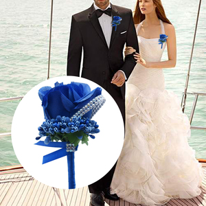 Boutonnieres Homme Mariage Rose Brooch Wedding Corsages Bracelet Bridesmaids White Groom Flower Boutonniere Ceremony Flowers