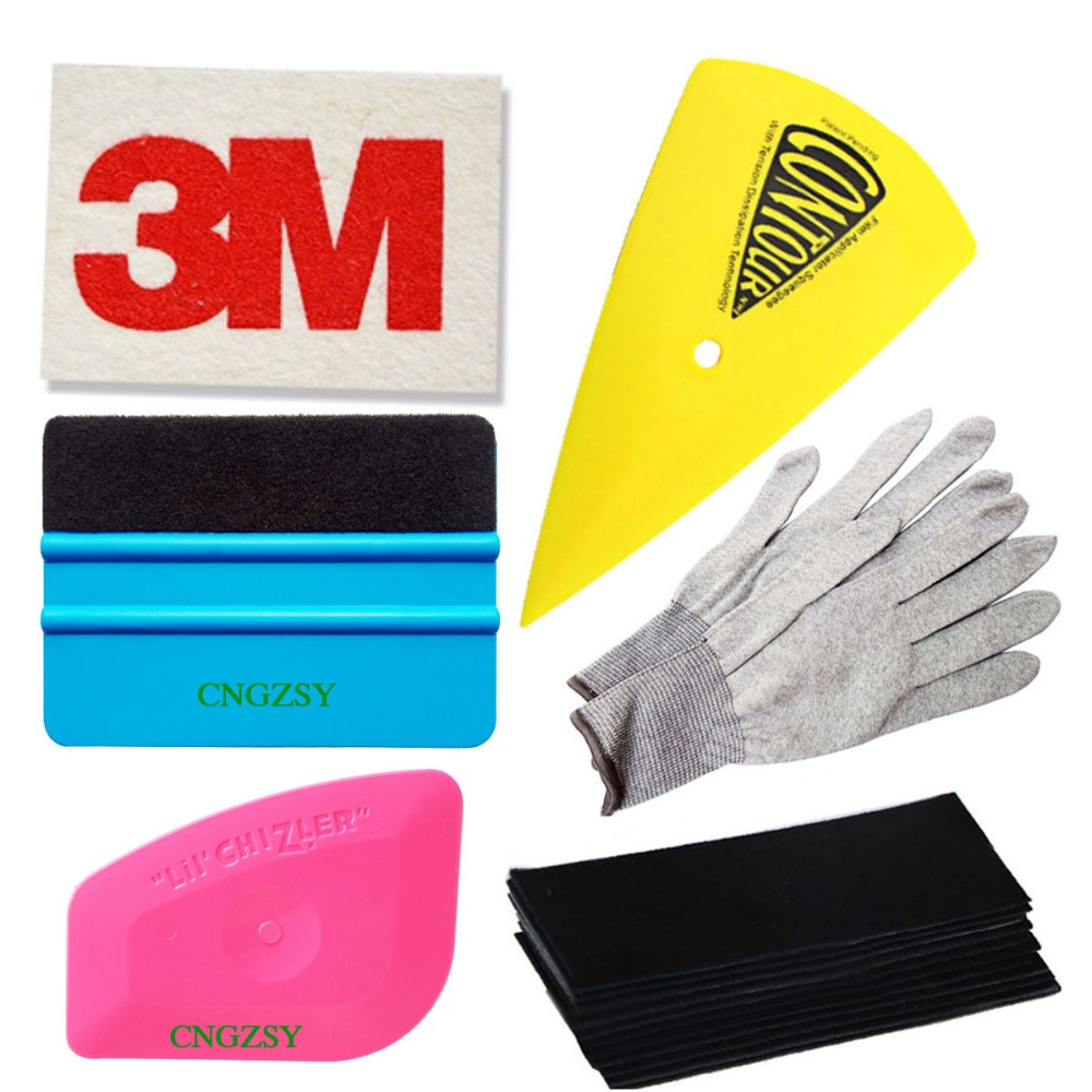 Universal Auto Safety Vinyl Cutter 3M Felt Edge Squeegee Car Wrapping Film Tool