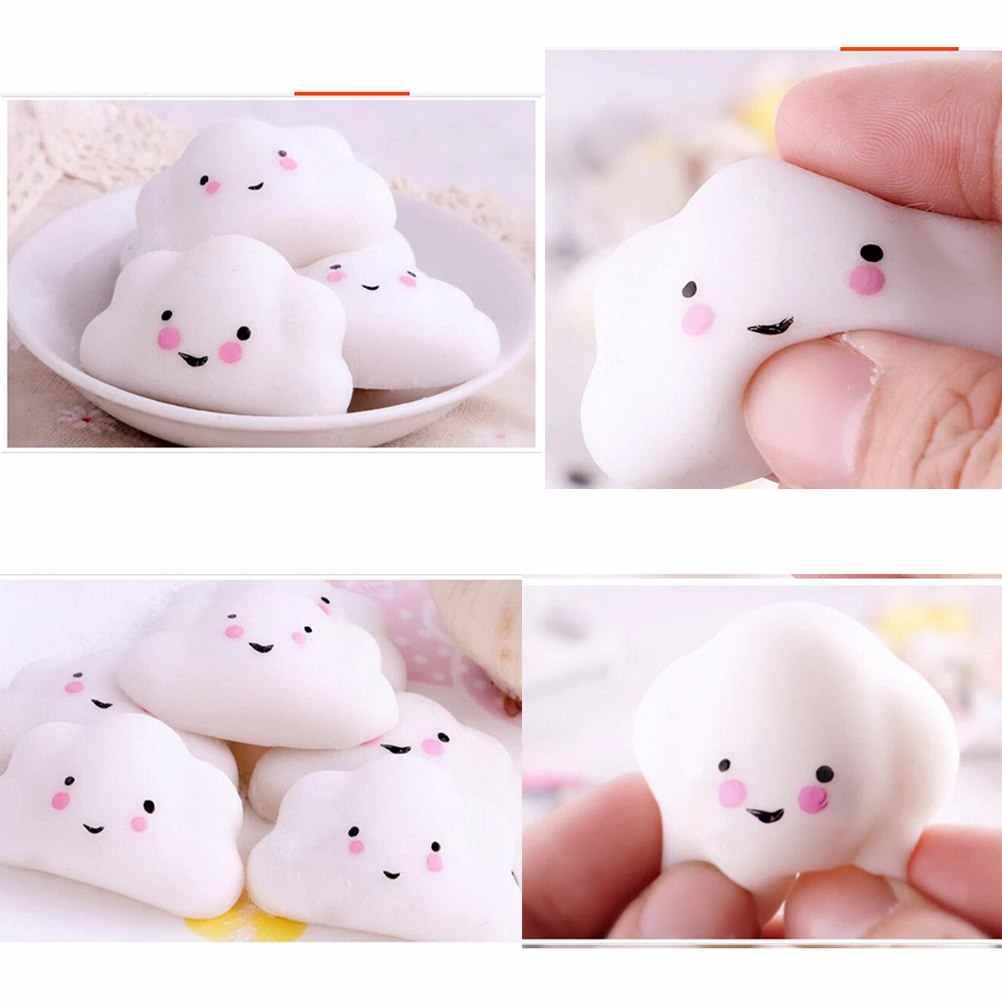 Mini Küçük Bulut Yumuşak sıkmak Basın Yavaş Yükselen telefon kayışı Ekmek Kek Çocuk Oyuncak Hobbie Hediye Pizies Ushihito Kawaii Sevimli Yumuşacık