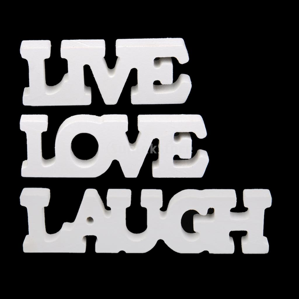 Live laugh love white wooden letter sign home decor 3pcs free live laugh love white wooden letter sign home decor 3pcs free shipping in party diy decorations from home garden on aliexpress alibaba group buycottarizona