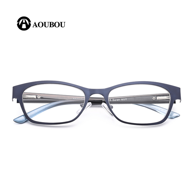 AOUBOU Brand Blue Vintage Women Reading Glasses High Clear Lens Glass Full Frame Glasses Gafas de lectura de las mujeres AB003