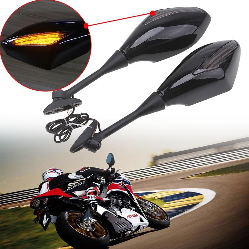 Miroir de rétroviseur pour Honda CBR | Coque ABS Style Racing, signaux de clignotants, rétroviseur arrière, 1000RR 250R 600RR CBR300R CBR500R
