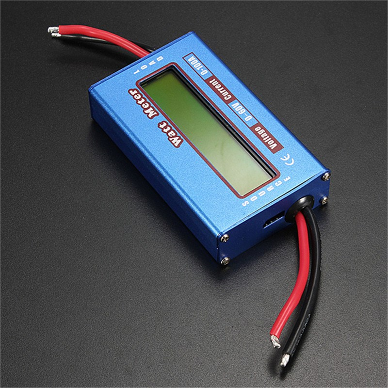 Battery Tester RC Boat Heli Watt Meter Digital LCD Display DC 60V 100A Balance Voltage Battery Power Analyzer Watt meter For DC g t power 130a 150a rc watt meter power analyzer digital lcd tester 12v 24v 36v high precision