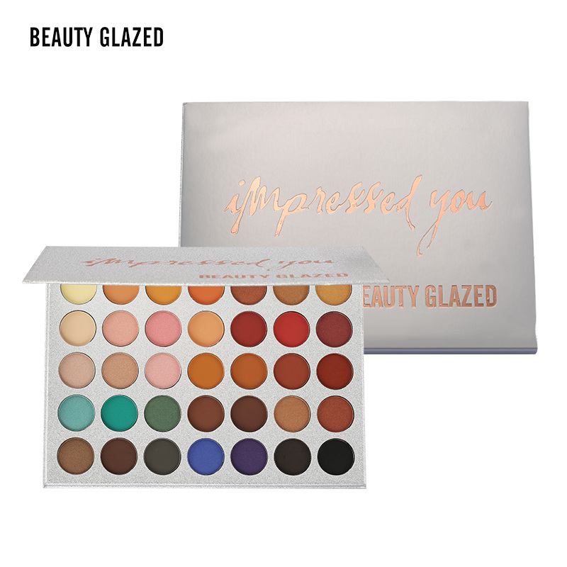 Beauty Glazed 35Color eyeshadow pallete Glitter Makeup Matte Eye shadow Long-lasting make up palette maquillage paleta de sombraBeauty Glazed 35Color eyeshadow pallete Glitter Makeup Matte Eye shadow Long-lasting make up palette maquillage paleta de sombra