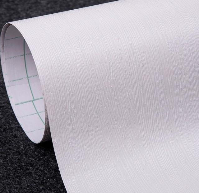 White Wood Textured Vinyl Contact Paper Peel Sticker Wallpaper Self ...
