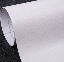White Wood Textured Vinyl Contact Paper Peel Sticker Wallpaper 24-Inches by 78.7-Inches