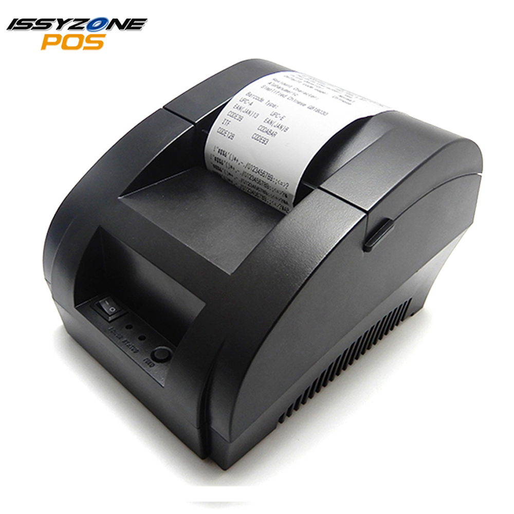 US $26 66 14% OFF|IssyzonePOS Thermal Printer Mini 58mm USB POS Cheap  Receipt Printer For Supermarket Restaurant I58TP04 Logo Printer ESC/POS-in