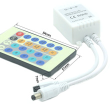 24 key DC5-24V 3*2A IR RGB Controller Dimmer With Mini Receiver for SMD 3528 5050 3014 LED Light Strip Flashing modes adjustable dc 12v mini 24key remote controller ir rgb rgbw controller with mini dimmer for smd 3528 5050 5630 3014 led strip lights
