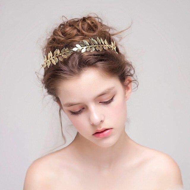 Jonnafe Gold Silber Blatt Tiara Braut Stirnband Handgemachte Vintage