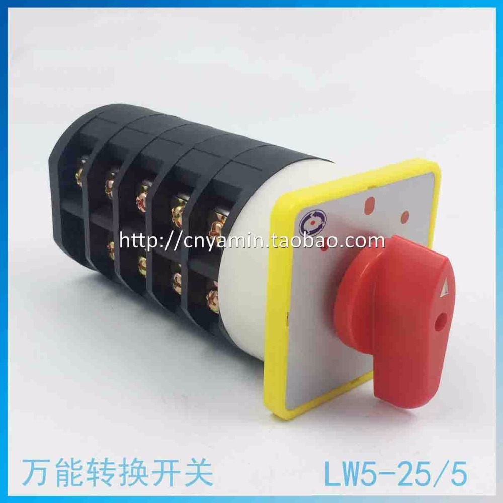 цена на Universal Change-over Switch 3 Archives LW5-25/5 Silver Point 5 Section But Combine Switch Control Electric Machinery