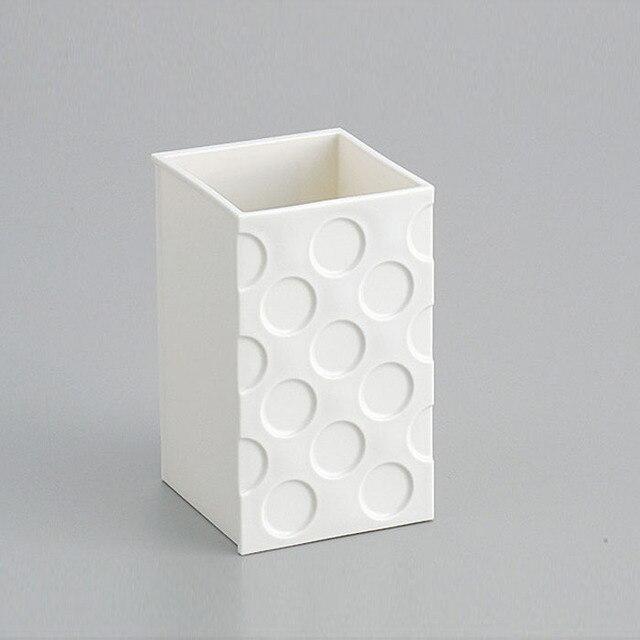 White Small Square Fridge Magnet Storage Organizer Set
