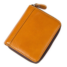 Wholesale Genuine Leather Rfid Card Holder Women Men Wallet Credit Card Holder Fasnhion Card Id Holders Organizer Purse 2017 genuine leather women men id card holder coin purse card wallet credit card business card holder protector organizer hb43