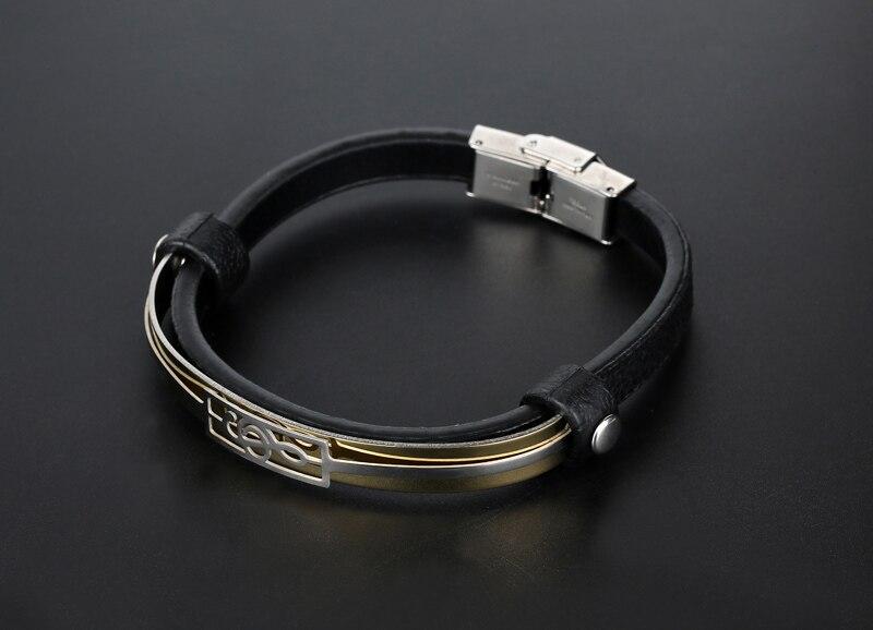 liujun Treble Clef Stainless Steel Musical Bracelet 7