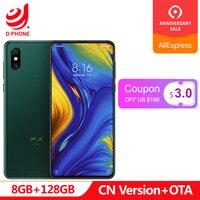 In Stock Xiaomi Mi Mix 3 8GB RAM 128GB ROM Snapdragon 845 Octa Core 24+2MP Front Camera 6.39 19.5:9 Qi Wireless Charging Phone