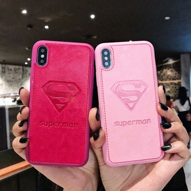 Mickey Mouse Case Iphone Max Xr X 7 8 Plus 6 6s Leather Superman Pink Panther Official Cover Coque