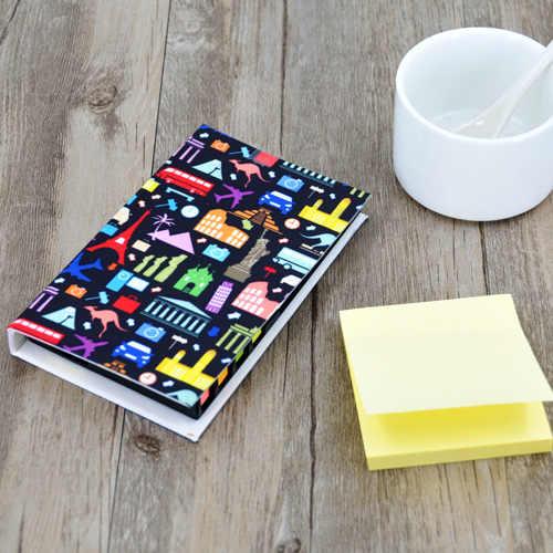 10 cái/lốc Thăng Hoa Trống Polyester Notepad-Full In Tùy Chỉnh Logo Có Thể In Logo cho TỰ LÀM Văn Phòng