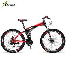 New X-Front brand carbon steel 26 inch 21/27 speed mountain bike outdoor downhill bicicleta MTB folding bicycle
