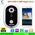 Новый HD720P БЕСПРОВОДНОЙ Дверной Звонок Ночь Версия ИК Обнаружения Движения Сигнализации для IOS Android Smart Wireless IP Беспроводной Дверной Звонок с Камерой