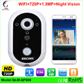 New HD720P WIFI Doorbell Night Version IR Motion Detection Alarm for IOS Android Smart Wireless IP WiFi Doorbell with Camera