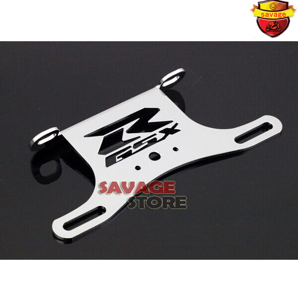 For SUZUKI GSXR GSX-R 600 750 2006-2013 Chrome Motorcycle Fender Eliminator Registration Plate Bracket License Plate Holder for suzuki gsx r600 k6 2006 2007 fender eliminator tail tidy holder motorcycle license plate bracket for suzuki gsxr750 k6