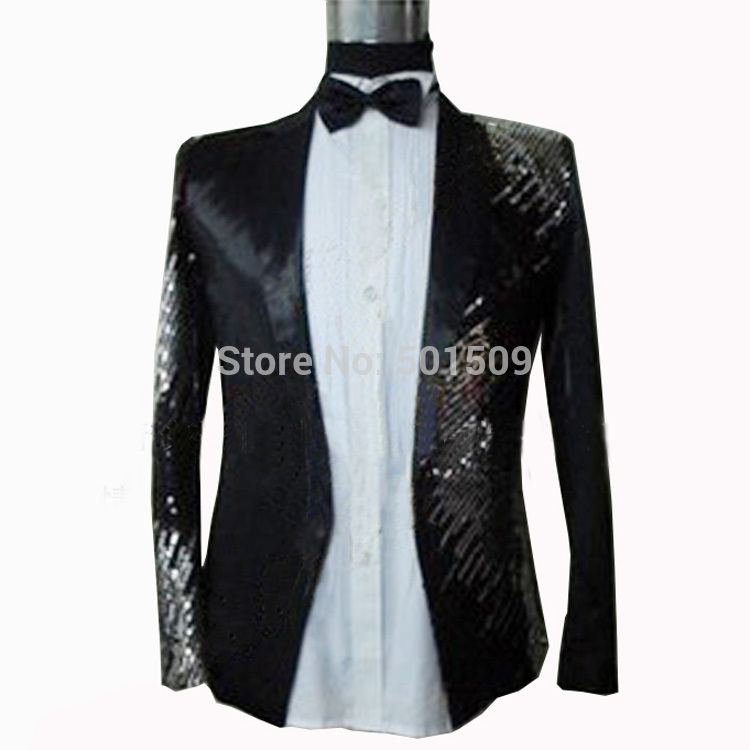 authentic quality wholesale sales cheap for sale US $48.8 |Free ship mens black/red/blue sequins glitter embroidery tuxedo  suit/stage performance/only jacket-in Suits from Men's Clothing on ...