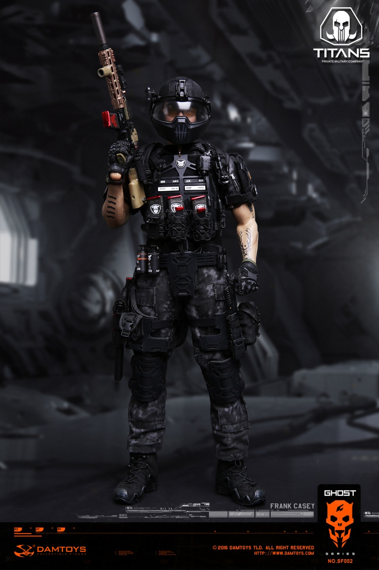 1//6 Scale DAMTOYS SF002 GHOST SERIE TITANS PMC Frank Casey combat suit