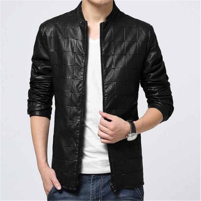 2018 New Fashion Leather Jacket Mens Jacket Thick Winter Jacket Blazer  Jacket Pu Chao 34b1e1710736b
