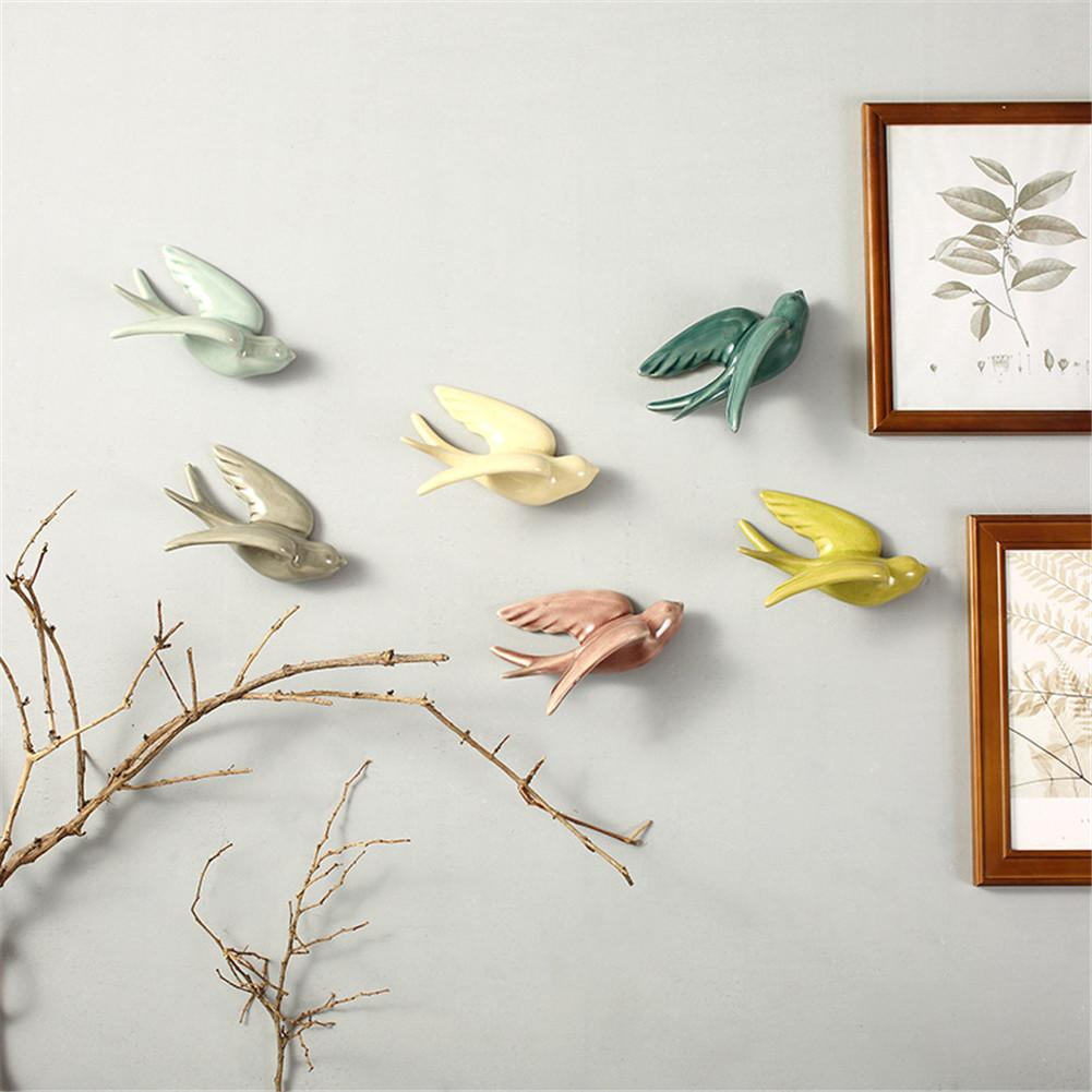 3D Birds Wall Decoration Home Decoration Accessories Modern Vintage Home Decor 6 Colors Wall Sculpture Bird Statue S/L S3