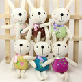 Rabbit car pendant mobile phone small pendant plush toy rabbit doll married small gifts