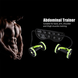 Ab rollers fitness equipment abdominal exerciser trainer puller roller slimming muscle trainer workout tool resistance bands.jpg 250x250