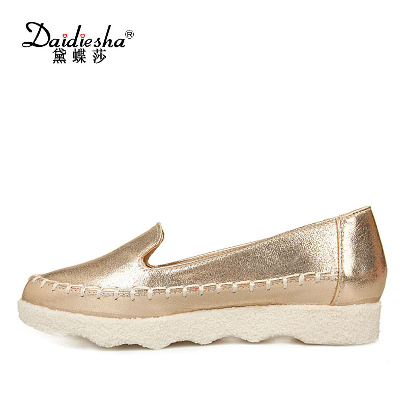 Daidiesha Casual Flats Loafers Shoes Female Slip On Ladies Shoes Casual Flats Moccasins Pointed toe Shoes Women Flats Footwear beyarne spring summer women moccasins slip on women flats vintage shoes large size womens shoes flat pointed toe ladies shoes