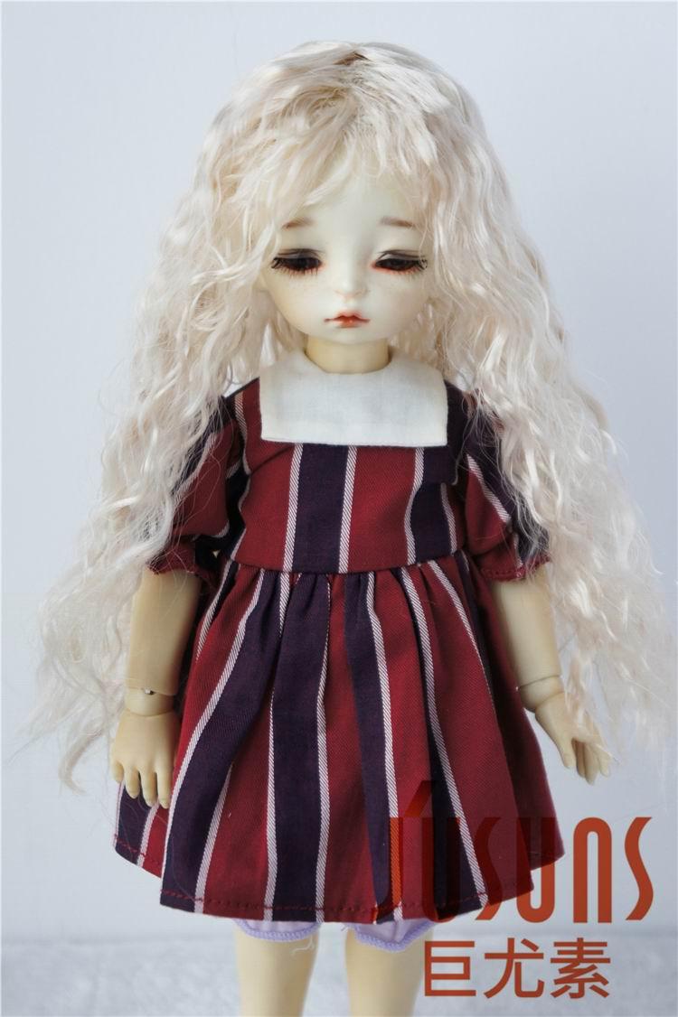 JD022 1/6 Pretty Beauty fis BJD Doll Perigs ölçüsü 6-7 düymlük sintetik bəxşiş kukla parik qatran kukla oyunu kuklası üçün