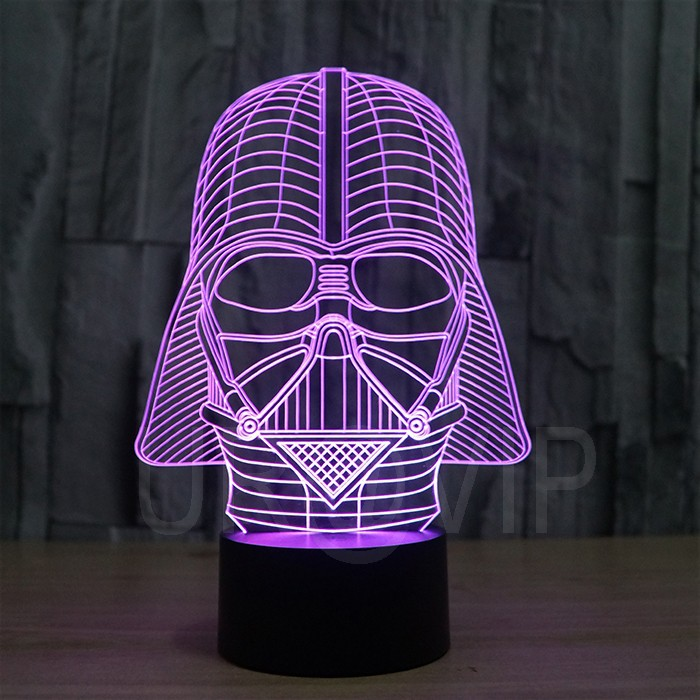 JC-2833  Amazing 3D Illusion led Table  Lamp Night Light with darth vader shape   (6)