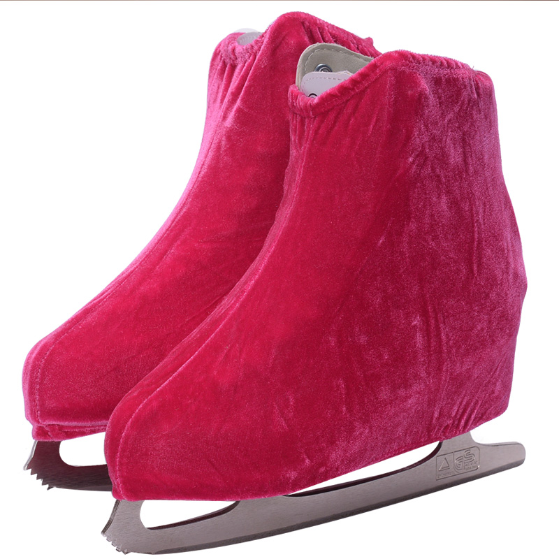 1 pair Ice Skating Figure Skating Shoes Velvet Cover Roller Skate Anti Dirty Flannelette Elastic For Kids Adult S M L 3 Colors in Skate Shoes from Sports Entertainment