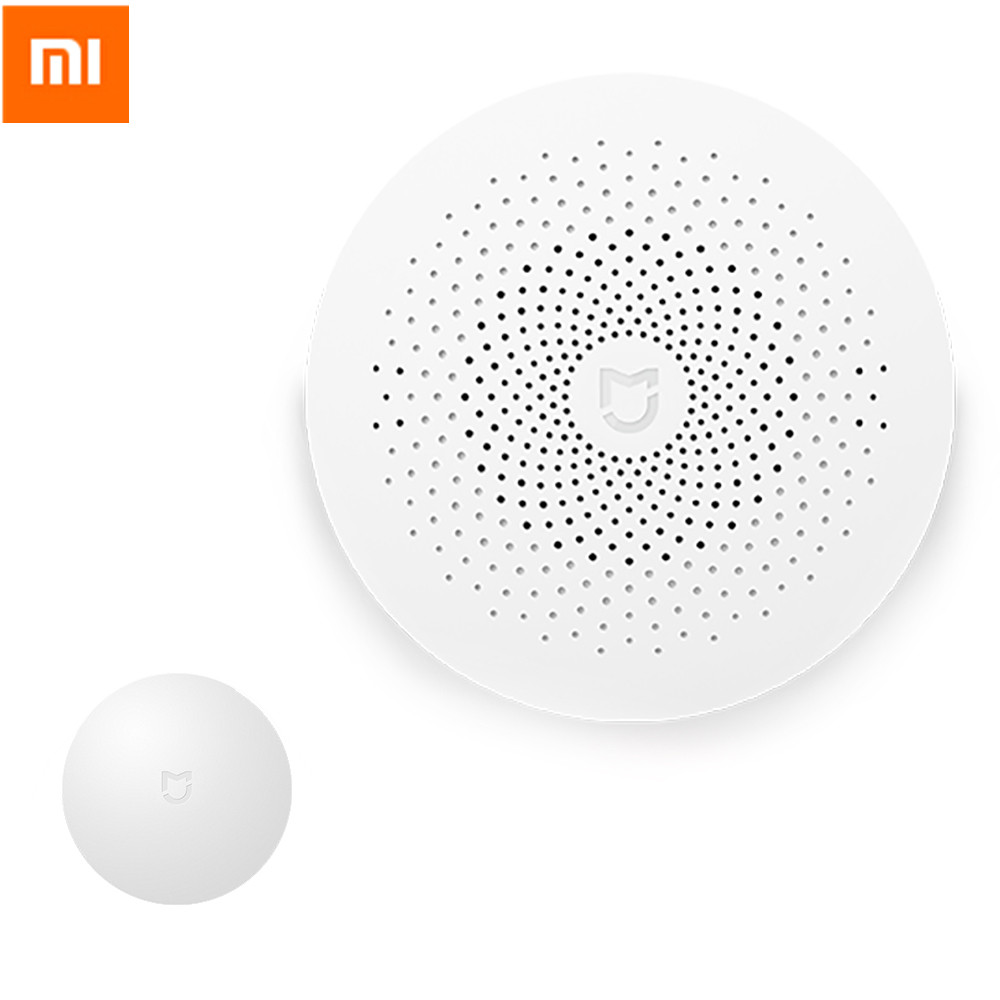 Original Xiaomi Multifunctional Gateway Alarm System Control Center And Smart Wireless Switch  Intelligent For Smart Home Kits