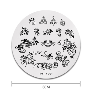 Image 2 - PICT YOU Nail Stamping Plate French Tips Printing Design Image Stamp Stainless Steel Round Shape Nail Art Templates Y001