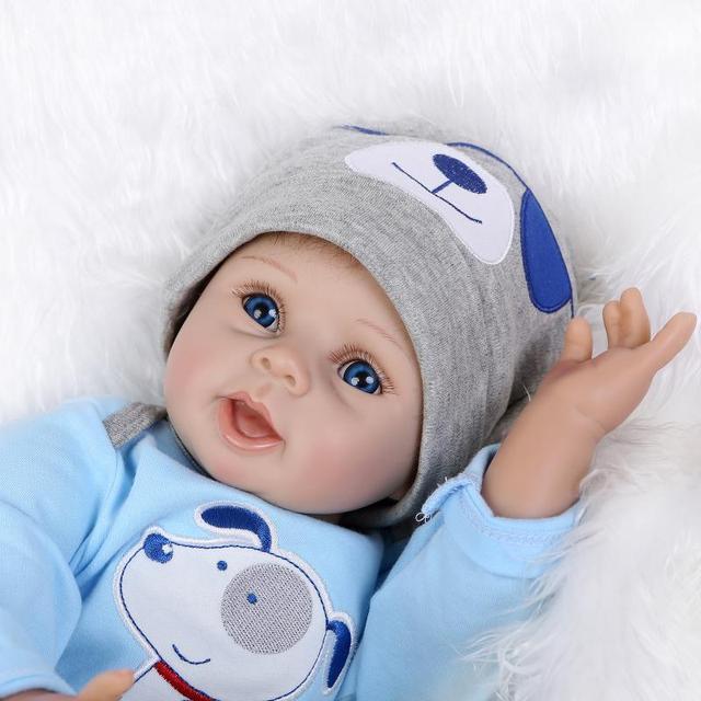Poursuivre Bleu Yeux Bebe Reborn Silicone Reborn B 233 B 233