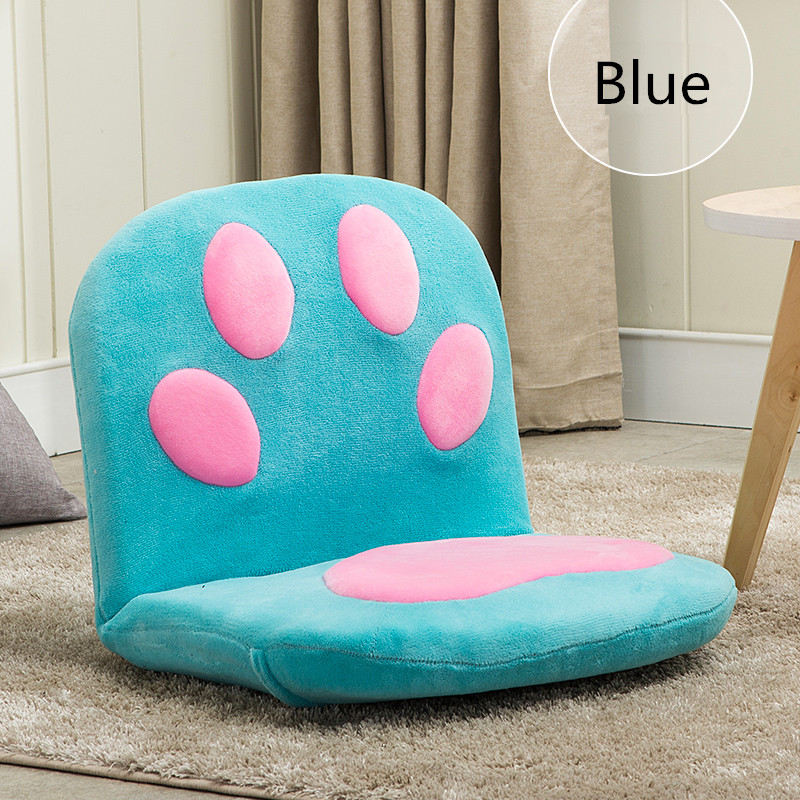 Paw Cushion Seat Foldable Floor Chair For Children Kids Furniture Modern Adjustable Portable Relax Leisure Relax Children Chair portable outdoor foldable chair cushion