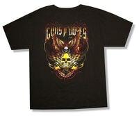 Guns N Roses Wings Skull Hình Ảnh FL-UT 2011 Tour Đen T Shirt New Chính Thức GnR