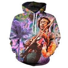 2017 sweatshirt Hoodies Men women Cool creative 3D print Guitar singer Celebrity fashion hot Style Streetwear Clothes wholesale