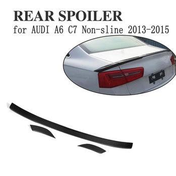 Carbon fiber Hinten Trunk-Boot flügel lip Spoiler für Audi A6 C7 2013-2015 Nicht-sline